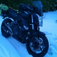 Snow Fun ~ or ~ how to ride a motorcycle in the snow