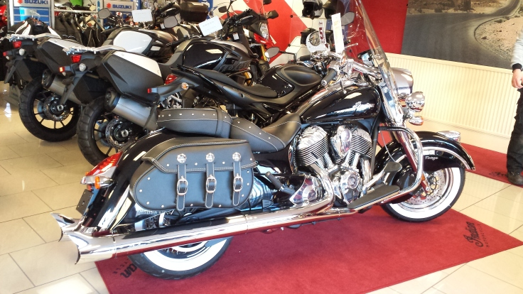 My Indian Chief Vintage in the showroom